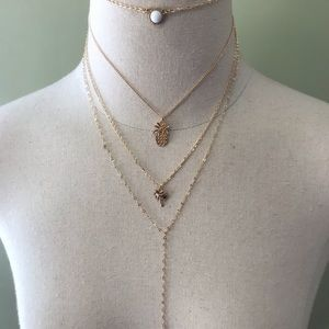 New!🌟 3 for $25 Gold Multilayer Necklace